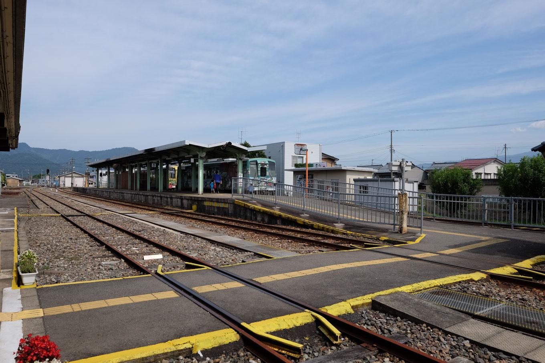 越前大野駅ホーム。