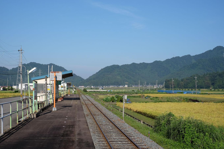 北大野駅ホーム。