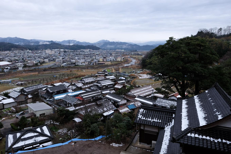 清龍寺高台からの眺め。