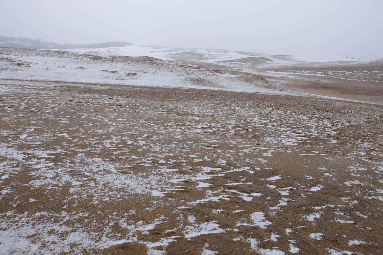 荒涼とした鳥取砂丘。