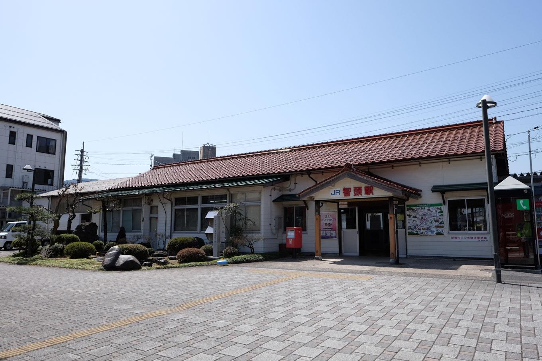 智頭駅舎。