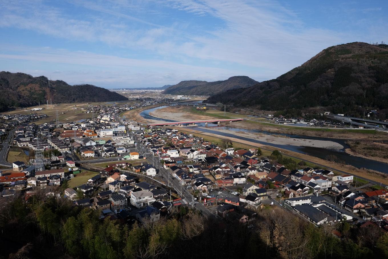 展望室から日本海方面の眺望。