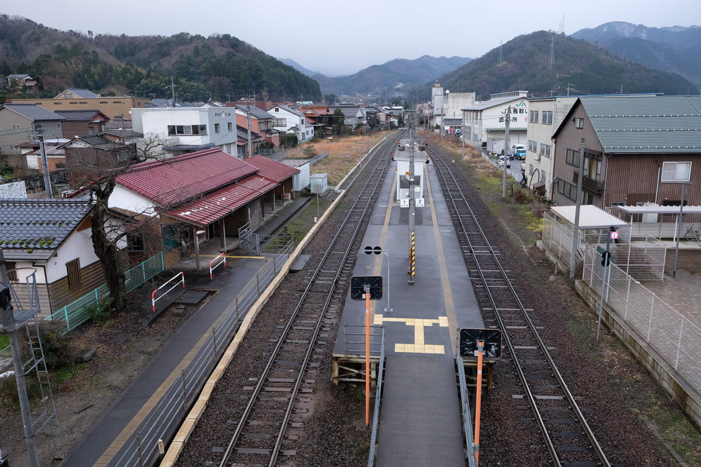 用瀬駅ホーム。