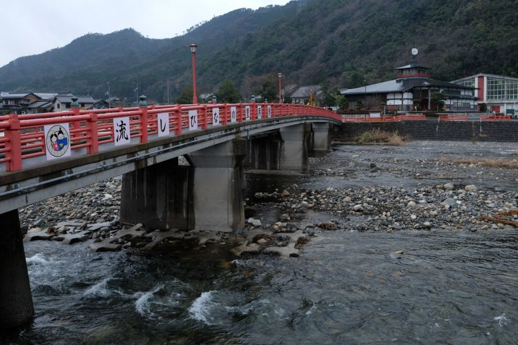 千代川と流しびなの館 (FUJIFILM X-T1 + XF16mm F1.4R)