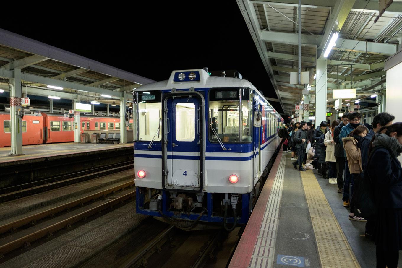 鳥取駅に到着した 749D。