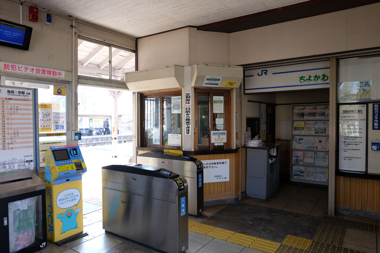 千代川駅待合室。