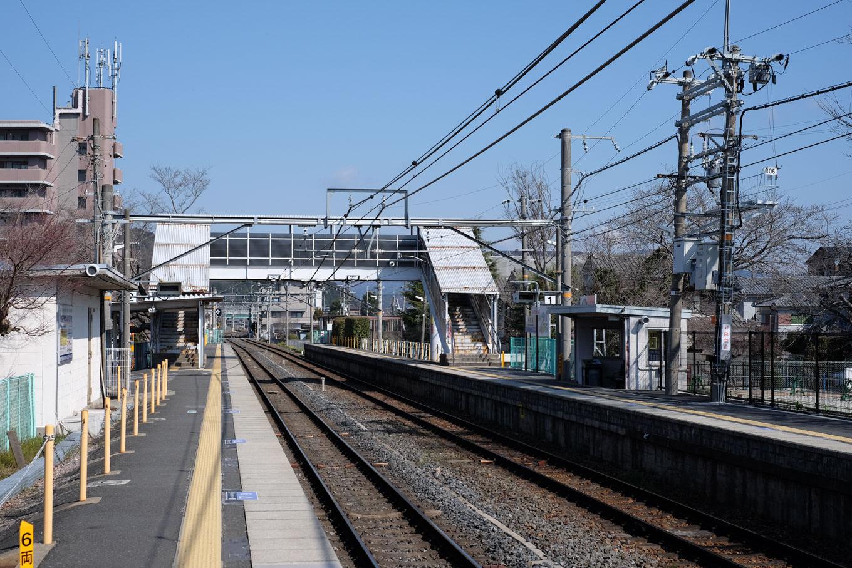 千代川駅ホーム。