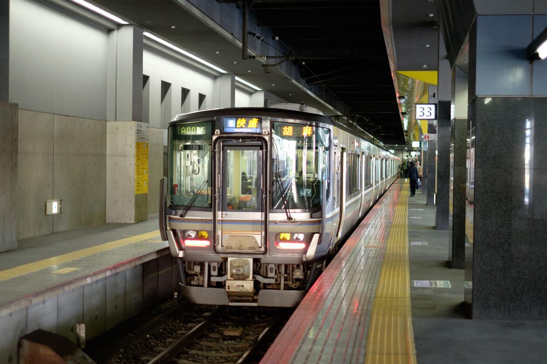 普通列車の胡麻行き 2201M。