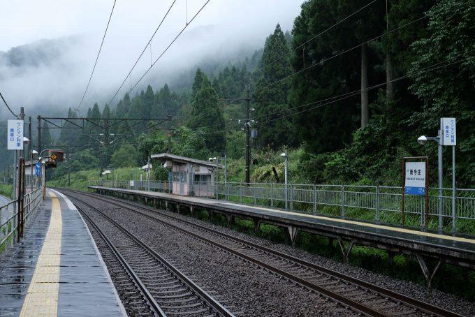 ホームだけの南今庄駅 (FUJIFILM X-T1 + XF35mm F1.4R)
