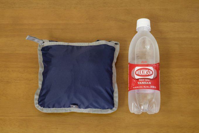 収納時のサイズをペットボトルと比較