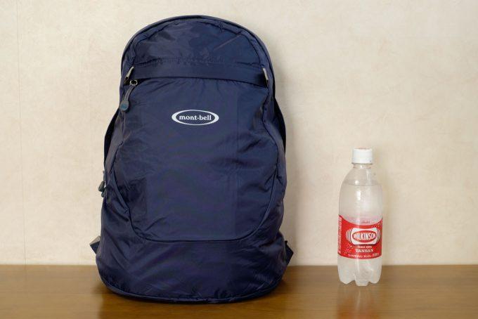 使用時のサイズをペットボトルと比較