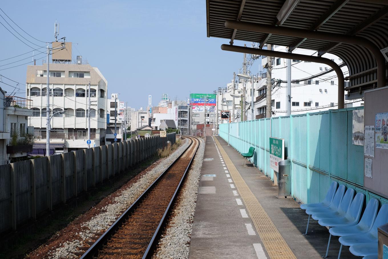 阿波富田駅ホーム。