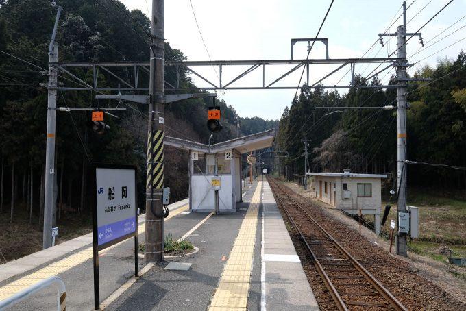 築堤上にある船岡駅 (FUJIFILM X-T1 + XF10-24mm F4R)