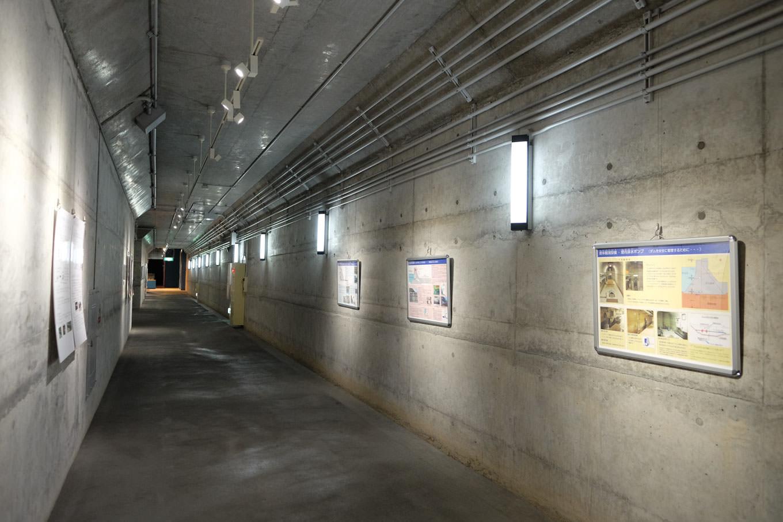 日吉ダムの堤体内部。