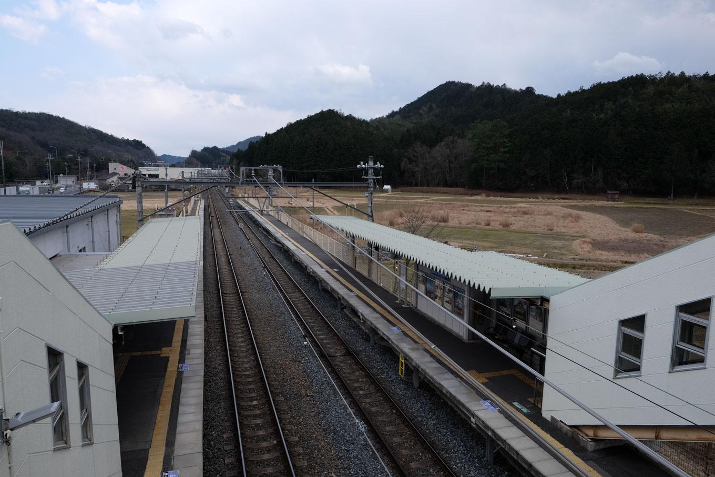 吉富駅ホーム。