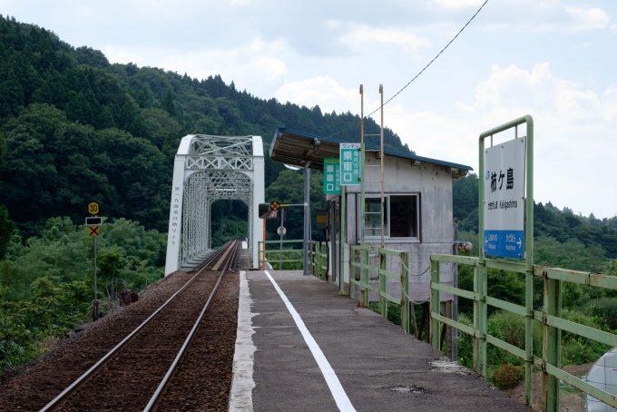 柿ケ島駅ホーム (FUJIFILM X-T1 + XF35mm F1.4R)
