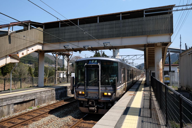 立木駅に入線する福知山行き1131M。