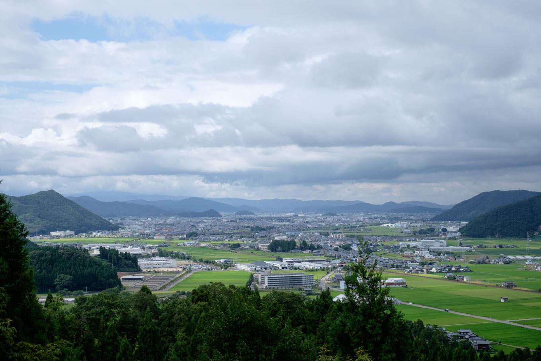大塩八幡宮の裏山にある展望台からの眺望。
