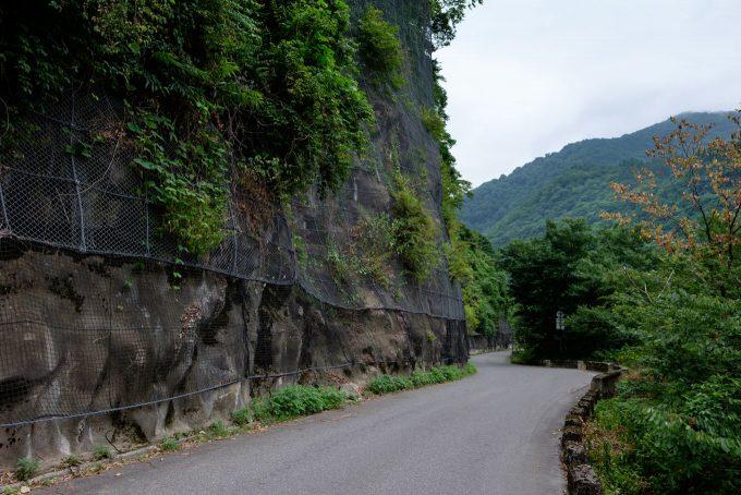 白山神社に向かう道路 (FUJIFILM X-T1 + XF16mm F1.4R)