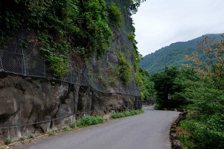 白山神社に向かう道路。