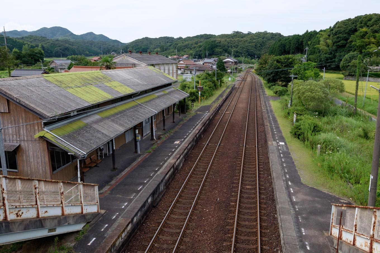 厚保駅によく似た四郎ヶ原駅構内。