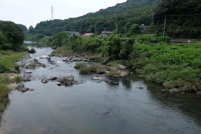 厚狭川と湯ノ峠駅。