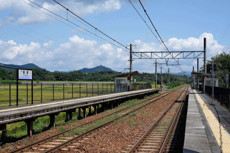 高津駅ホーム。