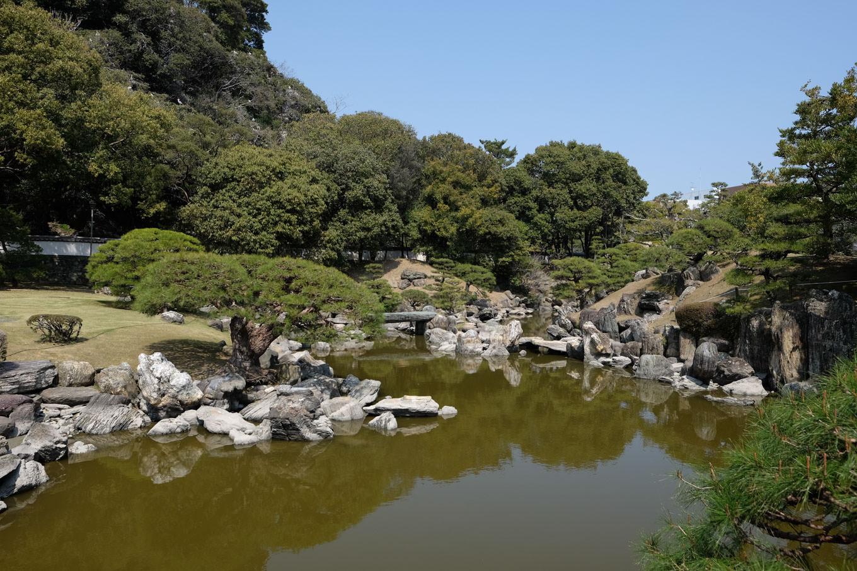 旧徳島城表御殿庭園。