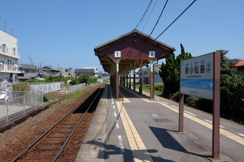 南小松島駅ホーム。
