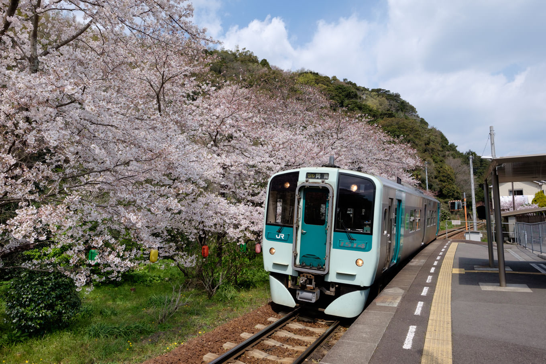 阿波赤石駅に入線する、海部行き普通列車4539D。