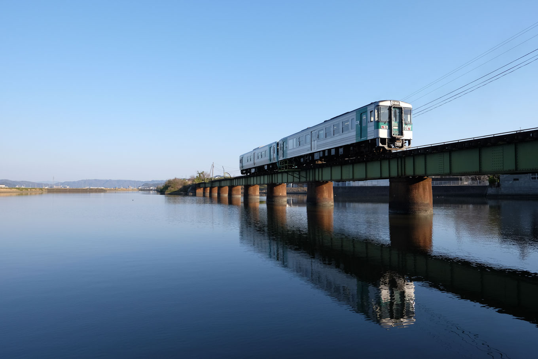 牟岐線の列車。