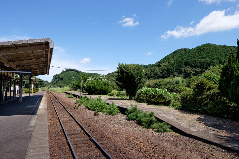 長門湯本駅ホーム。