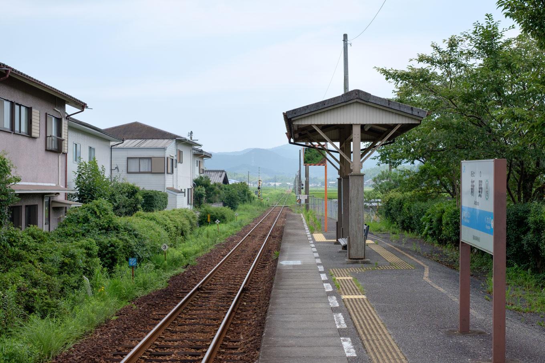 新野駅ホーム。