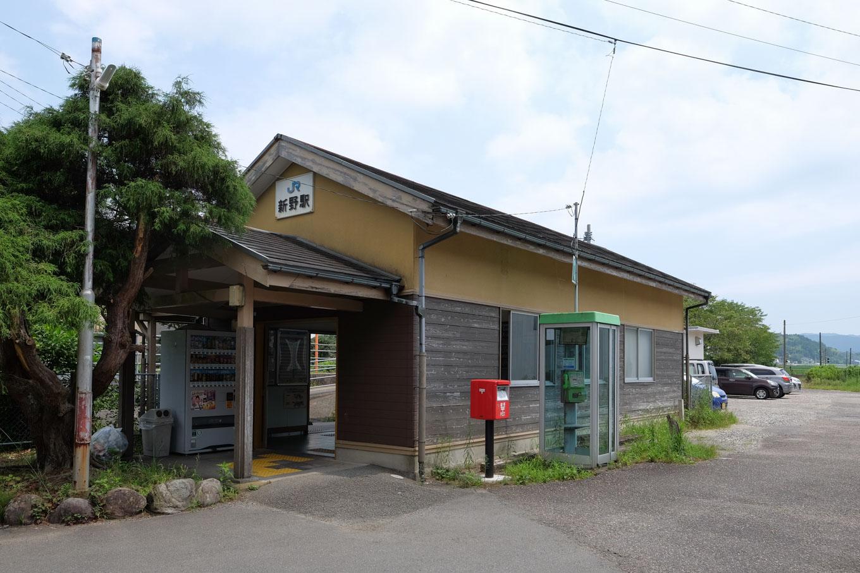 新野駅舎。