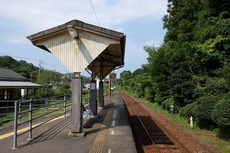 阿波福井駅ホーム。