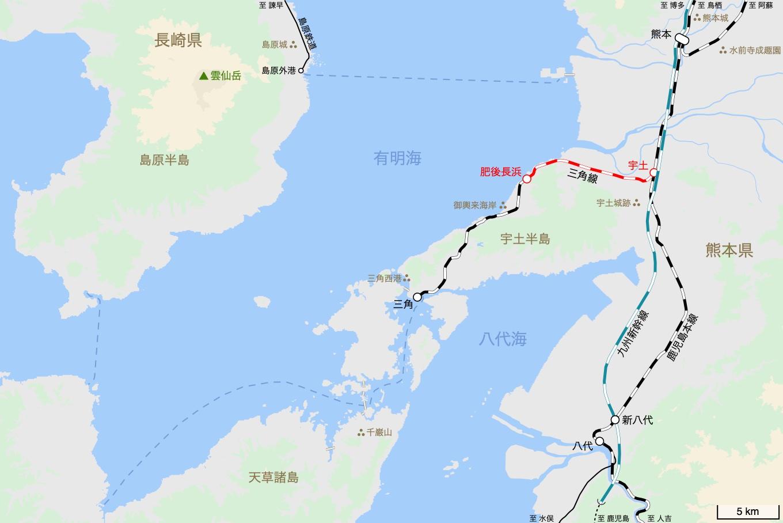 三角線の旅 1日目 旅行記&乗車記の地図。