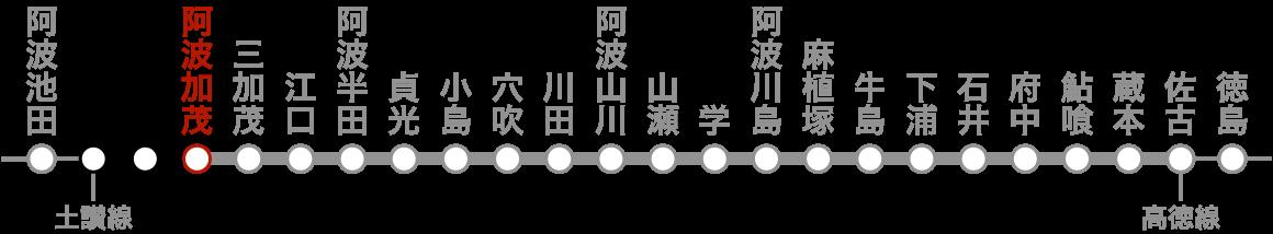路線図(阿波加茂)。