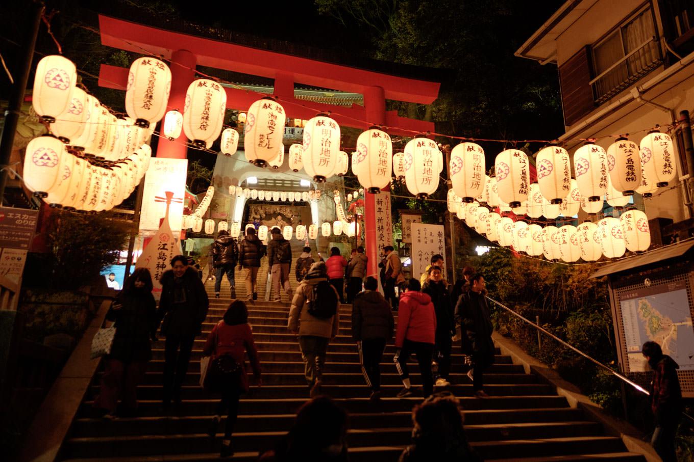 江島神社。