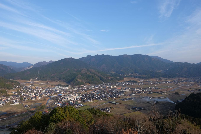 日詰山展望台からの眺望。
