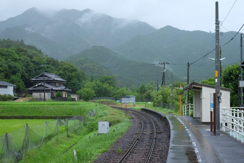 辺川駅ホーム。
