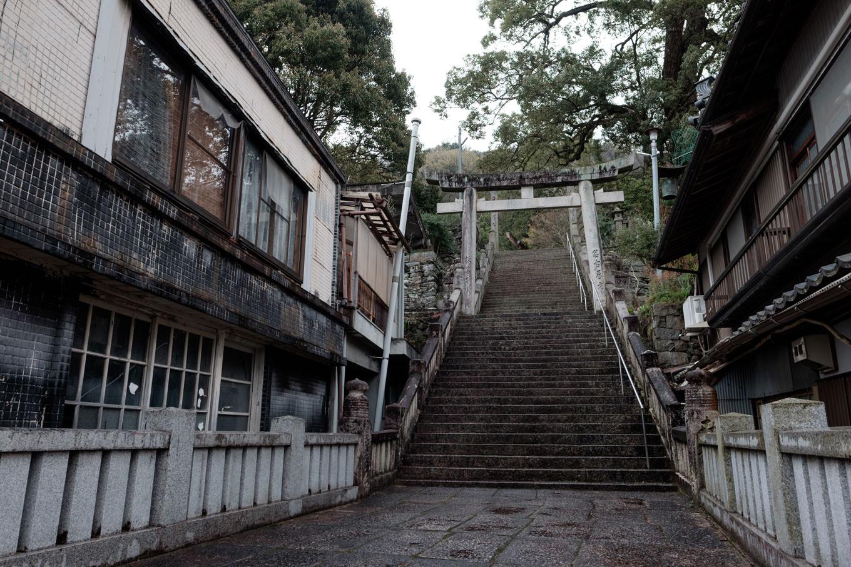 町並みの中にある今宮神社。