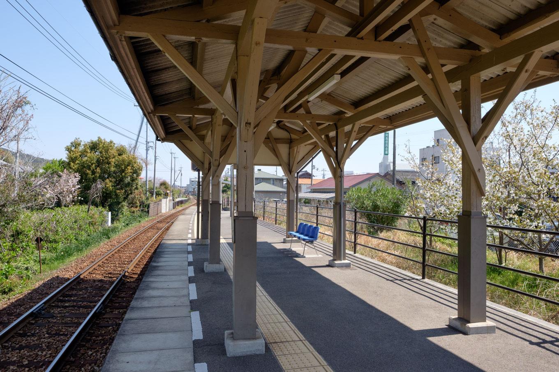 阿波橘駅ホーム。